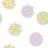 Semless pastel flowers Stock Photos