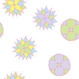 Semless pastel flowers. Background vector stock illustration