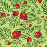 Semless pattern with strawberry vector illustration