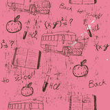 Semless texture about school. Vector illustration EPS10 Stock Image