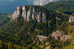 Semmering Bahn wiadukty obrazy stock