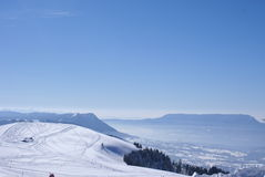 Semnoz ski resort view looking South East from top Royalty Free Stock Photography