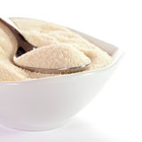Semolina in a bowl Royalty Free Stock Image