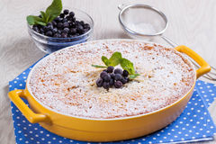 Semolina cake with berries Royalty Free Stock Image