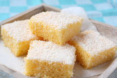 Semolina cake with coconut Royalty Free Stock Images