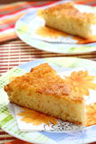 Semolina Cake. Delicious Semolina Dessert. Stock Images