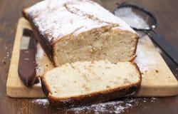 Semolina cake. With powdered sugar Royalty Free Stock Image