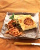 Semolina with chorizo stew Stock Photo