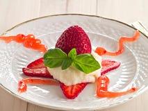 Semolina with fruits Royalty Free Stock Image