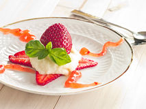 Semolina with fruits Royalty Free Stock Images