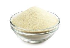 Semolina in a bowl Stock Image
