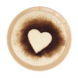 Semolina mash with cocoa heart-shaped Royalty Free Stock Photography