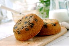 Semolina muffin Stock Photo