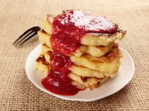 Semolina pancakes Royalty Free Stock Photo