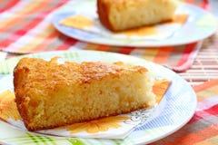 Semolina Pie. Delicious Semolina Dessert. Royalty Free Stock Photos