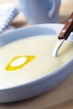Semolina porridge Stock Images