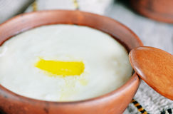 Semolina porridge Royalty Free Stock Images