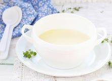 Semolina porridge for breakfast Royalty Free Stock Photography