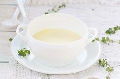 Semolina porridge for breakfast Stock Image
