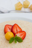 Semolina porridge Stock Image