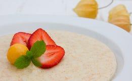 Semolina porridge Royalty Free Stock Image