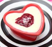 Semolina. A pudding of semolina with berries Royalty Free Stock Photography