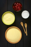 Semolina and Semolina Pudding Stock Images