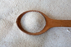 Semolina spoon Royalty Free Stock Image