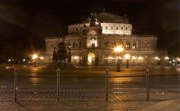 Semper歌剧,德累斯顿在萨克森,德国 免版税库存图片