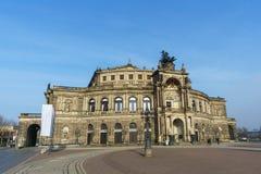 Semper de Dresde de théatre de l'opéra images libres de droits
