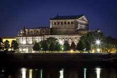 Semper Oper by night Royalty Free Stock Photography