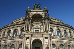 Semper Opera house Dresden Germany low angle Stock Image