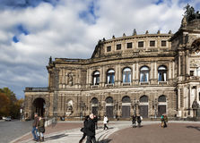 Semper Opera House  in Dresden on November 2, 2012 Royalty Free Stock Images