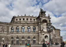Semper Opera House  in Dresden on November 2, 2012 Royalty Free Stock Image