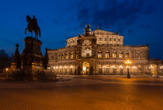 Semper Opera House in Dresden (Semperoper) Stock Image