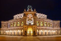 Semper Opera House (Semperoper) by night, Dresden Stock Photography