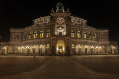 Semper opera house on Theaterplatz in Dresden Royalty Free Stock Photography