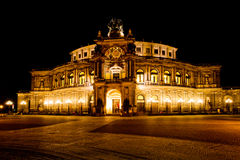 Semper opera at night Royalty Free Stock Images