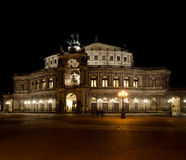Semper Opera at night Stock Photos