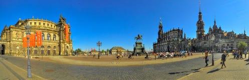 Semper Opera Panorama in Dresden Royalty Free Stock Images