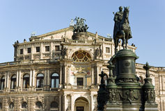 Semper operahouse in dresden Royalty Free Stock Photos