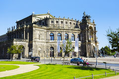 Semperoper,歌剧院在德累斯顿 库存照片