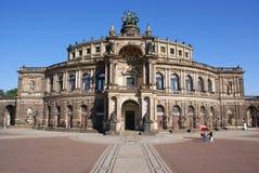 Semperoper à Dresde Images libres de droits