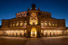 Semperoper à Dresde Photo libre de droits