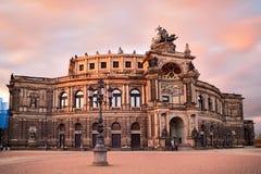 Semperoper в Дрездене стоковая фотография