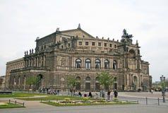 Semperoper, das das Opernhaus des Sachsische Staatsoper Dresden ist lizenzfreies stockfoto