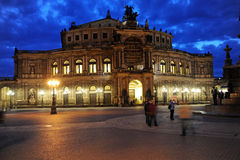 Semperoper, Dresde Photos libres de droits