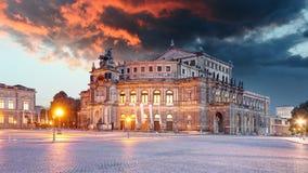 semperoper dresden Германии стоковое фото rf