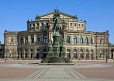 The Semperoper in Dresden Stock Images