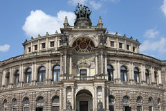 Semperoper in Dresden Stockfoto